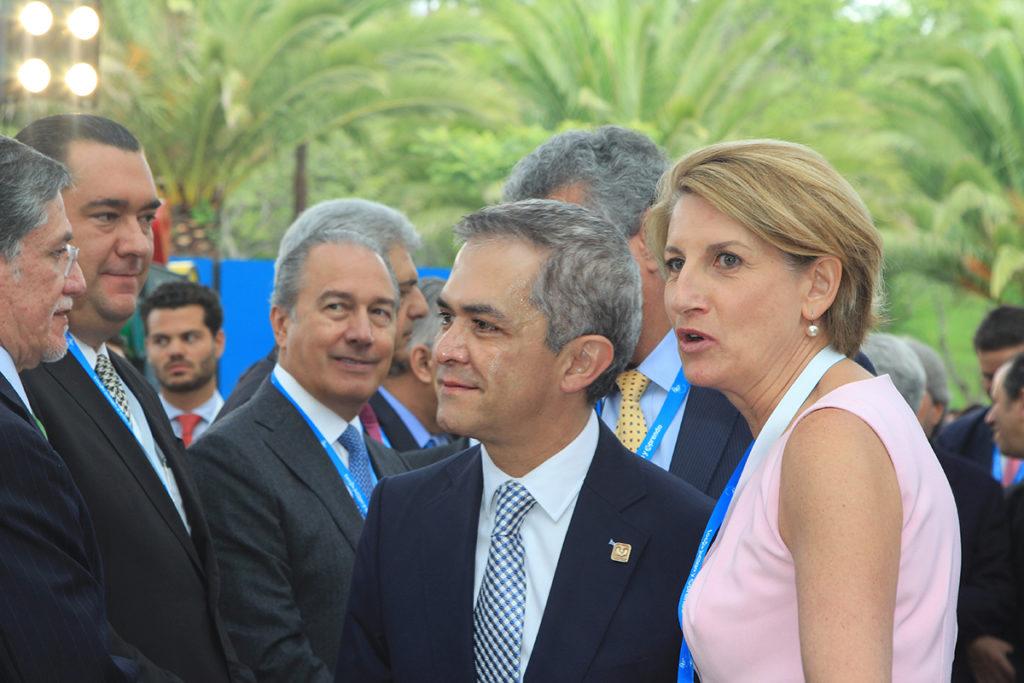Miguel Ángel Mancera y Dolores Beistegui