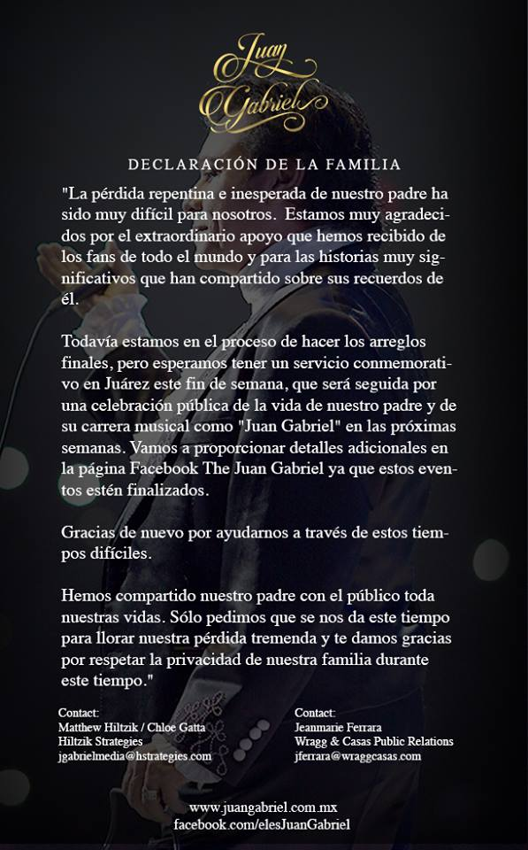 Juan Gabriel Familia