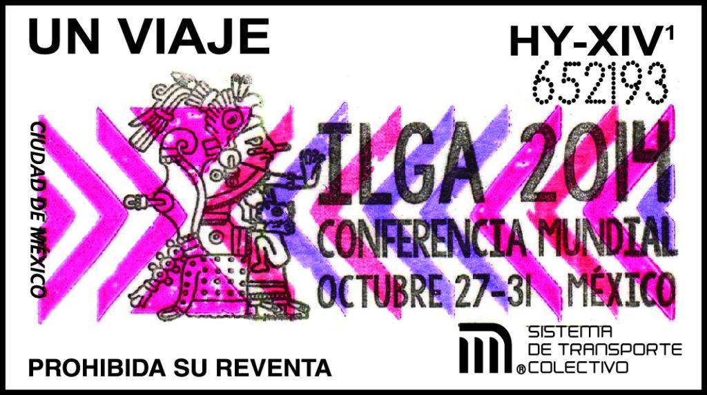 Boleto de conmemoración en apoyo a que la Ciudad de México fue sede de la 27 Conferencia Mundial de la Asociación Internacional de Lesbianas, Gays, Bisexuales, Trans e Intersex (ILGA)