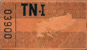 El primer boleto del Metro era de color naranja y costaba $1.10.