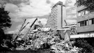 TLATELOLCO 85: El edificio Nuevo León del Conjunto Urbano Nonoalco Tlatelolco se vino abajo en el 85.