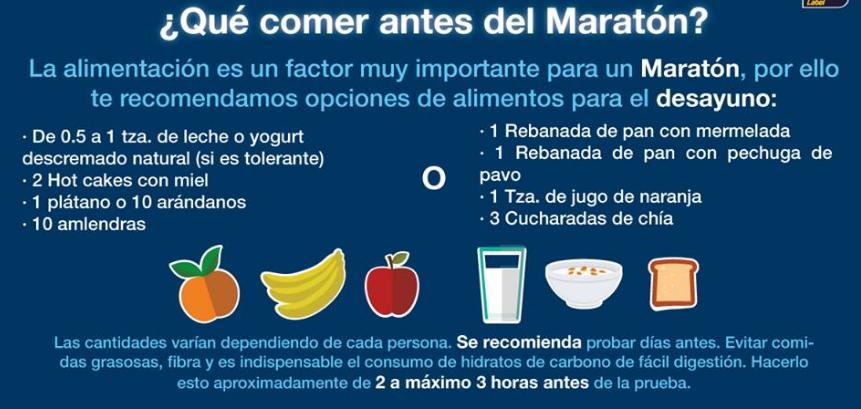 comer antes del maratón