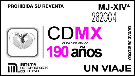 BOLETO CDMX 190 AÑOS