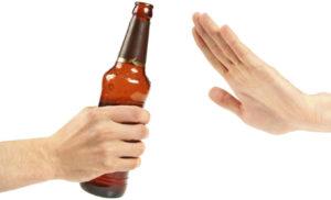 Evita el alcohol